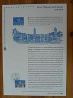Document Officiel FDC 08-509 Pont Valentré Medieval Bridge Cahors 56 Lot 2008 - Brücken