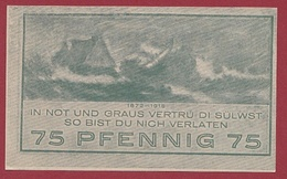 Allemagne 1 Notgeld De 75 Pfenning Niendorf Dans L 'état N °5669 - Collections