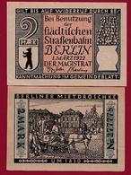 Allemagne 1 Notgeld De 2 Mark Berlin Dans L 'état N °5672 - Verzamelingen