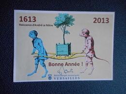 """CP Voeux 2013 """"LE NOTRE"""" Bibliothèque De Versailles - New Year"""