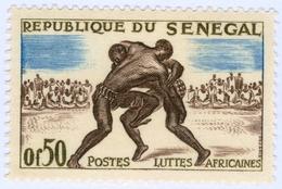 SENEGAL, SPORT, WRESTLING, 1961, 0,50 F., FRANCOBOLLO NUOVO (MNH**) Mi:SN 245, Scott:SN 202, Yt:SN 205 - Senegal (1960-...)