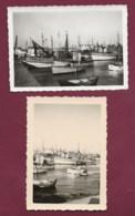 250120C - 2 PHOTOS 1961 - 29 LOCTUDY Le Port Voilier De Pêche Filet - Loctudy