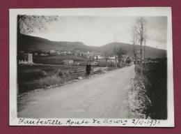250120C - PHOTO 1930 - 01 HAUTEVILLE Route De Bourg - Entrée Du Village - Hauteville-Lompnes