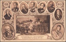 Privatpostkarte PP 27 Völkerschlacht Mit Passendem SSt LEIPZIG Weihe 18.10.1913 - Deutschland