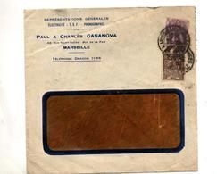 Lettre Cachet Marseille Sur Blanc Expo Coloniale - Marcophilie (Lettres)