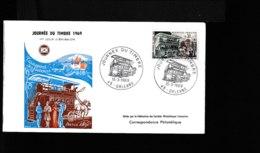 """1589   FDC 1969  15 Mars1969    Omibus Tranport Des Facteurs """"Paris 1890""""  965 - FDC"""