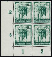 662 Volksabstimmung 1938 - Als Viererblock Unten Links, Postfrisch ** - Allemagne