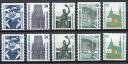 794 Ff SWK - Zehn C/D-Werte Komplett 10/50/60/80/100 Pf, Set Postfrisch ** - Berlin (West)