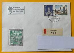 9928 -  5e Exposition Entente Philatélique Haut-Léman/ValaisSion 3.11.1984 Lettre Recommandée - Suisse