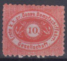 Austria 1870 Donau, Danube River Transportation Stamp,  Mi#4 MNG - 1850-1918 Empire