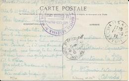 SAVOIE 73 - AIX LES BAINS  - HOPITAL BENEVOL N° 232bis AIX LES BAINS LE MEDECIN CHEF  - 1916 - 2 C V - HB 232bis - 14eRM - Marcophilie (Lettres)