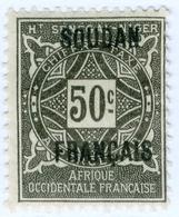 SUDAN FRANCESE, FRENCH SUDAN, SEGNATASSE, 1921, 50 C.,  NUOVO (MLH*) Mi:FR-SU P6, Scott:FR-SU J6, Yt:FR-SU T6 - Neufs