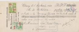 Chimay, Chèque Denrées Coloniales De 1932. - Chèques & Chèques De Voyage