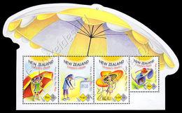 Nuova Zelanda / New Zealand 2015: Foglietto Protezione Bambini Dal Sole / Being Sun Smart, Children's Health S/S ** - Blocks & Sheetlets