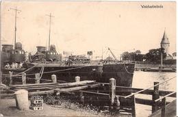DANZIG Weichselmünde Hafen Kriegsschiffe Wisloujscie Gelaufen Feldpost 9.7.1917 Gelaufen - Danzig