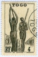 TOGO, DONNE TOGOLESI, 1941, 4 C., FRANCOBOLLO USATO  Mi:TG 132, Scott:TG 272, Yt:TG 184 - Togo (1960-...)