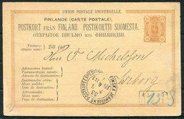 1881 Finland Stationery Postcard Jernvagens Railway TPO - 1856-1917 Amministrazione Russa