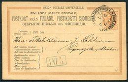 1882 Finland Stationery Postcard Jernvagens Railway TPO - 1856-1917 Amministrazione Russa