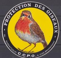Autocollant Protection Des Oiseaux Brasschaat. - Stickers