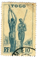 TOGO, DONNE TOGOLESI, 1941, 10 C., FRANCOBOLLO USATO Mi:TG 134, Scott:TG 274, Yt:TG 186 - Togo (1960-...)