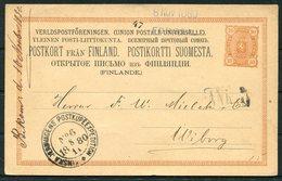 1880 Finland Stationery Postcard Jernvagens Railway TPO - 1856-1917 Amministrazione Russa