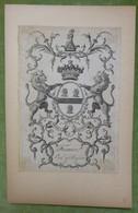 Illustration Héraldique XVIIIème - FERMOR - EARL OF POMFRET - Ex-libris