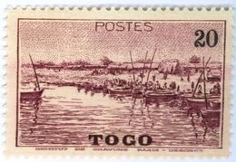 TOGO, PAESAGGI, LANDSCAPES, 1941, 20 C., FRANCOBOLLO NUOVO (MLH*) Mi:TG 136, Scott:TG 276, Yt:TG 188 - Togo (1960-...)