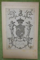 Illustration Héraldique XVIIIème - KER EARL KER - Ex-libris