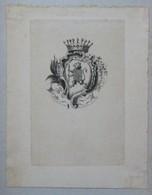 Ex-libris Héraldique Illustré XIXème - LOMBARD DE BUFFIERES - Ex Libris