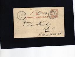 CG6 - Ungheria - Cartolina Postale - Budapest 23/3/1880 Per Vienna - Postal Stationery