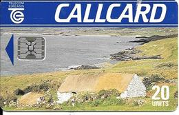 CARTE-PUCE-IRELAND-SC5-20U-R°Mat-PAYSAGE-V°N°5Ge 39934 Dans  Bleu- Ecriture-Petite-TBE - Irlande