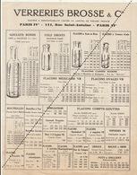 Publicité Verreries Brosse Bouteille Verre Flacon Mortier - Advertising