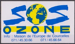 Autocollant, SOS Ozone, Courcelles. - Autocollants
