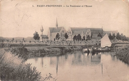 Passy - Froyennes - Le Pensionnat Et L'Escaut - Avec Bateau à Voile - Doornik