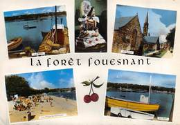 CPSM 29 LA FORET FOUESNANT MULTI VUES   Grand Format  15 X 10,5 Cm - Fouesnant