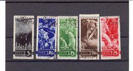 Russie URSS 1935 Yvert 536 / 540 Oblitérés Timbres De Propagande Contre La Guerre. (2090t) - 1923-1991 UdSSR