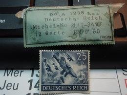 Timbre  DEUTSCHES REICH 25 +15 - Allemagne