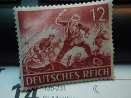 Timbre  DEUTSCHES REICH 12 + 8 Avec Gomme - Allemagne