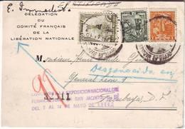 LIBERATION , Document Du COMITE FRANCAIS Au MEXIQUE 1944 .. Lettre , De Gaulle , RARE !!!! - Marcophilie (Lettres)
