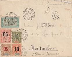 Madagascar Lettre Recommandée De Tananarive Du 2 Mars 1913 Avec Timbres D'anjouan Et Madagascar - Madagaskar - Sainte-Marie (1894-1898)
