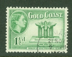 Gold Coast: 1952/54   QE II - Pictorial   SG155    1½d      Used - Goldküste (...-1957)