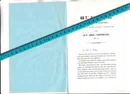 27 - GISORS - FRANC-MACONNERIE - LOGE Des Frères De BLANMONT ? Fasciule De 4 Pages Au T...V...F...DUMAS Pour Son Instal - Vieux Papiers