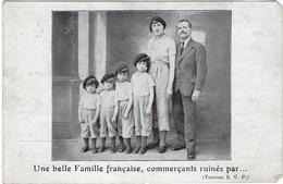Personnage Une Belle Famille Francaise Commercants Ruines Tour De France Par La Belgique Et Le Luxembourg - Autres Célébrités