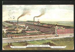 Künstler-AK Leipzig, Maschinenfabrik Karl Krause - Leipzig