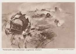 AK - WK II - Panzerspähtrupps Unterstützen Vorgehende Infanterie - Weltkrieg 1939-45