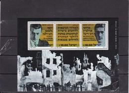 Israel 1983 Mi Block 24 Yv 25 40th Anniversary Of Warsaw Ghetto MNH** - Hojas Y Bloques