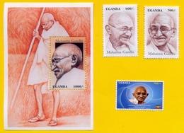 UGANDA 1997 Stamps / Souvenir Sheet And 2019 Stamp Issue GANDHI Anniversary; Postage W/ 2019 Gandhi Stamps! OUGANDA - Ouganda (1962-...)