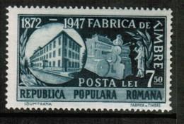 ROMANIA  Scott # 680** VF MINT NH (Stamp Scan # 576) - 1948-.... Republics
