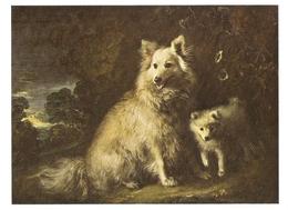AN 570  , FANTASY POSTCARD , CPM  ,  DOGS  , FINE ART , PAINTINGS , T. GAINSBOROUGH - Honden