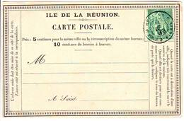 Carte Precurseur REUNION Timbre Obl Saint Pierre 1889 .... Lettre Sans Adresse . TTB - Réunion (1852-1975)